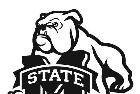msu mascot coloring pages | Mississippi State University Coloring Page from ...