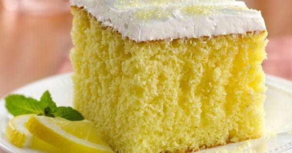 Lemonade Party Cake ~ When life hands you lemons, make lemonade cake!