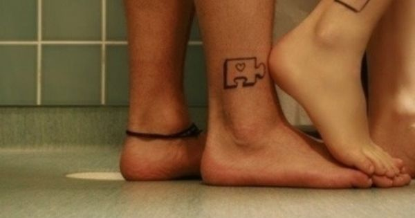 Maybe not the puzzle piece, but the placement and couple tattoo idea