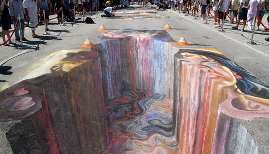 sidewalk chalk art, so awesome
