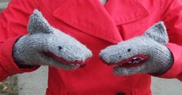 PDF Knitting Pattern for Shark Mittens (Etsy)