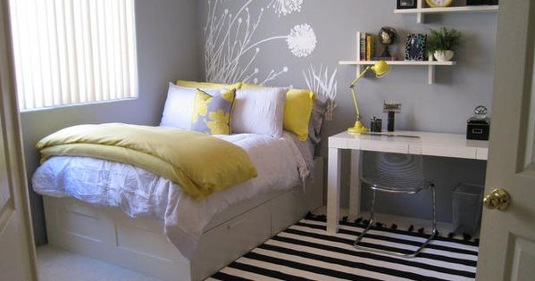 Grey And Yellow Bedroom Ideas - Small bedroom idea
