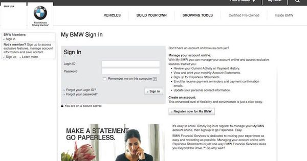 Bmw Bill Pay Login To Bmwusa Com Online Payment Paying Bills Bills Paying