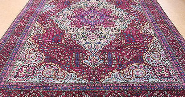 11x17 Antique Persian Lavar Kerman Hand Knotted Wool Raspberry Red Oriental Rug Red Oriental Rug Oriental Rug Rugs