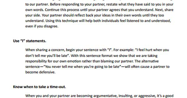 Relationship Conflict Resolution Preview | Psychology | Pinterest ...