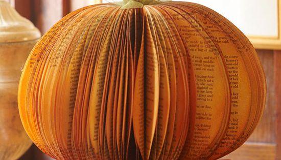 Unique Paper Pumpkin Centerpiece- BHG several fall craft ideas here