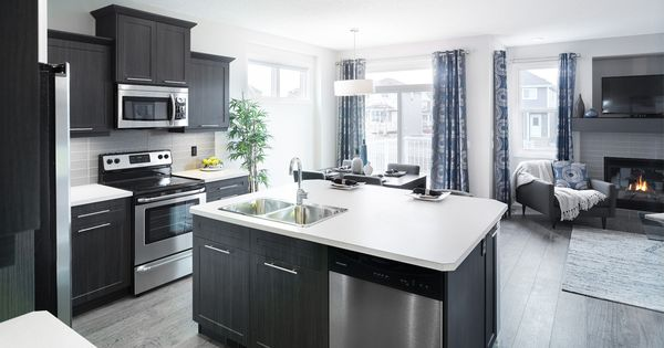 The aspenstone kitchen in riversong trico homes check for Ak kitchen cabinets calgary