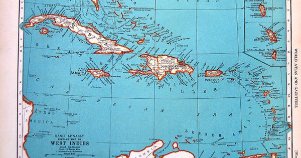 Map of the west indies popular map of cuba 1937 vintage rand map of the west indies popular map of cuba 1937 vintage rand mcnally map world atlas 2 sided 14 x 11 west indies antique maps and natural light gumiabroncs Image collections