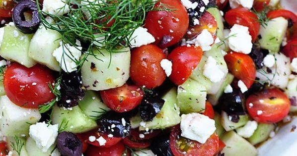 Ensalada de tomates y pepino :P