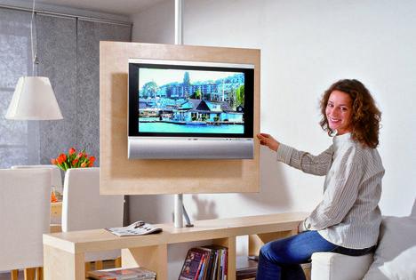 drehbare medienwand diy furniture pinterest fernsehwand selber machen und wohnzimmer. Black Bedroom Furniture Sets. Home Design Ideas