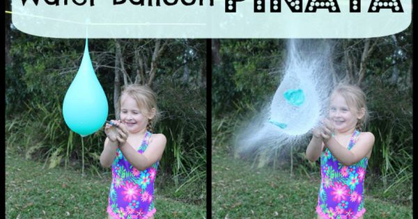 Water Balloon Pinata! Summer birthday party idea