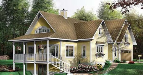 Hillside house plans with walkout 510 354 for Hillside home plans walkout basement