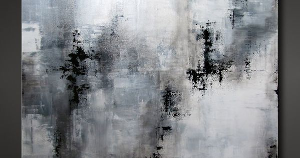 Abstract Painting Contemporary Modern Design Neutral