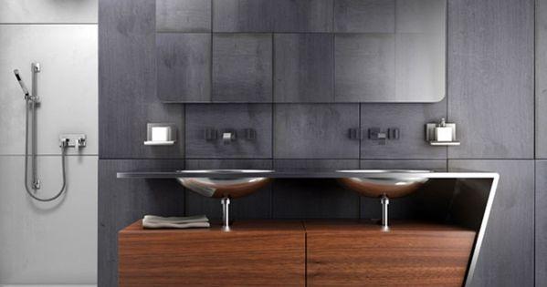 Ook rechthoekige xxl tegels vallen in de smaak trends badkamer pinterest tegels en badkamer - Tegel rechthoekige badkamer ...