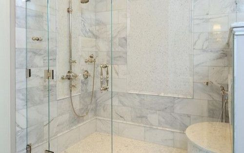 The Master Bath Custom Built Shower Is Enclosed With A Frameless