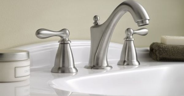 Moen Ca84440 Double Handle Widespread Bathroom Faucet From The Caldwell Collection Bathrooms
