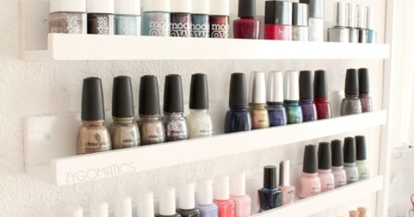Nail polish storage i think they carry shelves like these - Etagere murale pour vernis a ongle ...