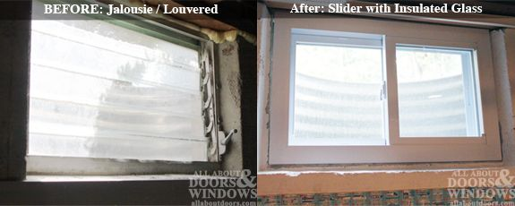 We Can Replace The Windows In The Basement But This Does Look Challenging Basement Windows Basement Window Replacement Basement Remodel Diy