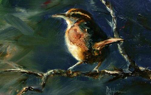 Carolina wren original fine art for sale ralph for Original fine art for sale