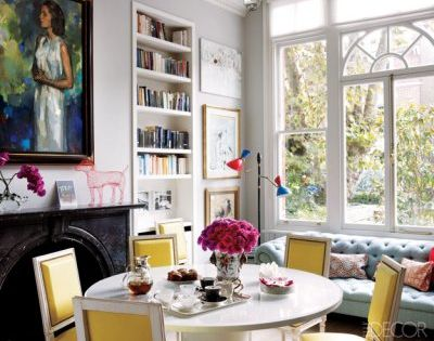 fresh, bright breakfast room colors
