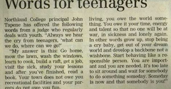 Words For Teenagers - 1959. Printing this when I have kids and