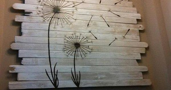 Quirky Pallet Art Helped Sell A Home Pallet Art Pallets