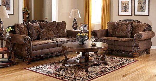 Bradington Truffle Living Room Set Signature Design Furniture Cart Home