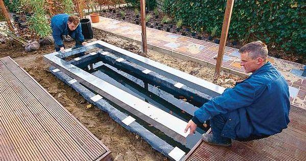 wasserbecken gfk modern|wasserbecken teich anlegen selbstde, Gartenarbeit ideen