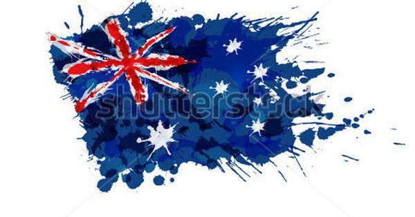 australian flag made of colorful splashes stock vector