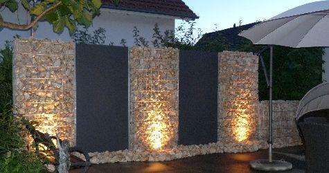 sichtschutz gabionen sch ner garten pinterest beautiful garten und zaun. Black Bedroom Furniture Sets. Home Design Ideas
