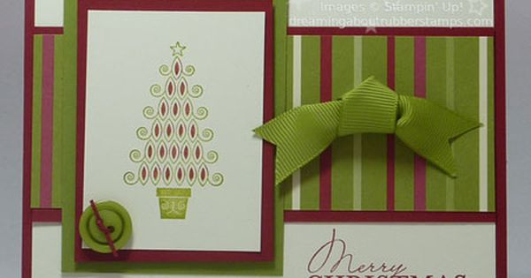 Easy Christmas cardmaking Stampin Up Contempo Christmas