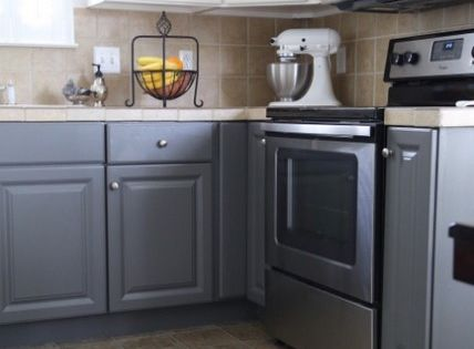 Painting Melamine Kitchen Cabinets DIY Pinterest Kitchens Paintings An