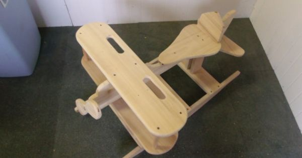 Wooden Airplane Rocker 32 Inches Long 24 Inches Wide And