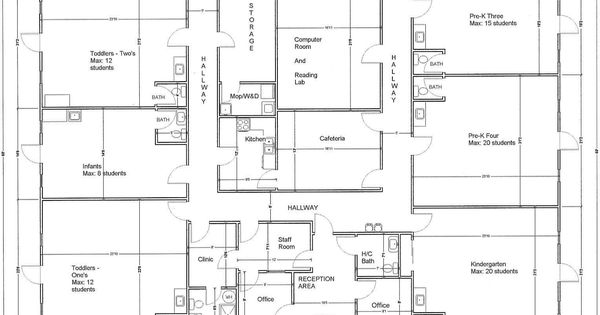 Floor Plans For Arranging A Child Care Room Designing The