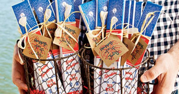 Southern Living Sparkler party favors idea