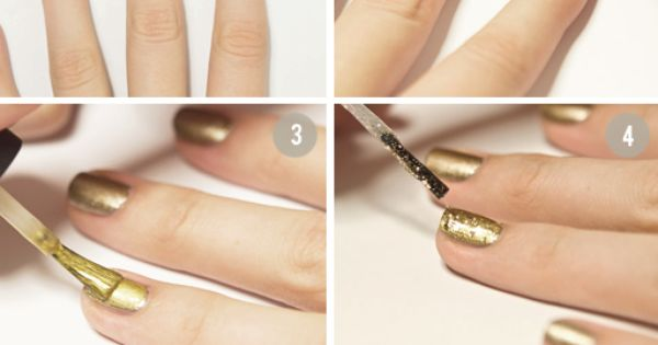 Mixed Metal Nail Ideas