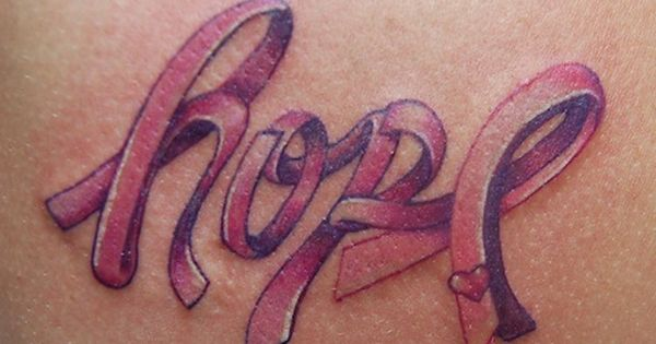 Hope tattoo pink ribbon | Pink Ribbon Hope Tattoo . This is