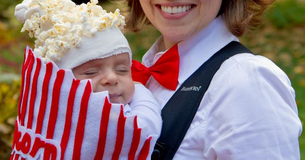 Popcorn Baby Costume!! What a cute idea