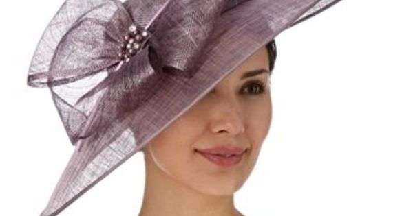 Mother Of The Bride Hats For Short Hair: Hatbox Mauve Embellished Bow Down Brim Hat Fascinator- At