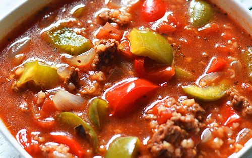 Stuffed-Pepper-Soup ~ I really like stuffed peppers but the soup version, made