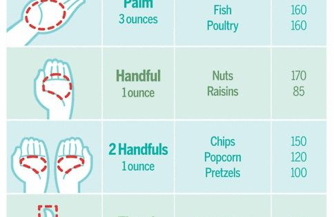 Your Guide To Calories And Portion Sizes Handy Portion Control Cut calories