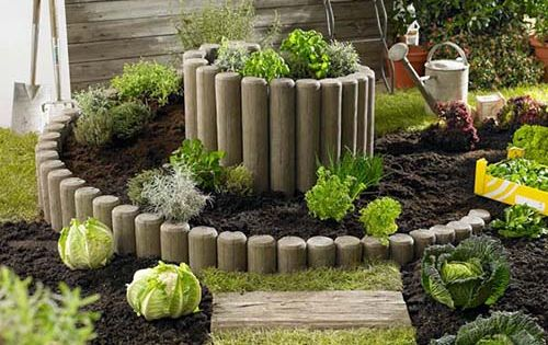 hochbeet kr uterschnecke holzimitiat diy garden. Black Bedroom Furniture Sets. Home Design Ideas