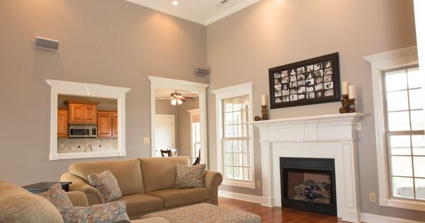 Family room behr perfect taupe so chris and i may have for Family room wall colors