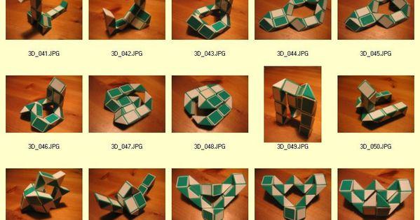 Origami snake images - Vs 3d 02 Jpg 810 215 1267 Snake Cube Pinterest Snake