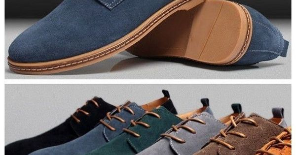 New Mens Casual/Dress Formal Oxfords Flats Shoes Genuine Suede Leather Lace Up FashionSneakers