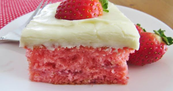 Fresh Strawberry Cake 1 box vanilla, white or yellow cake mix 1