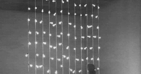 Felix Gonzalez-Torres, Untitled, (North), 1993, 12 light strings, 22 light bulbs on