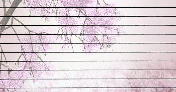Pretty writing paper
