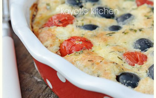 Cheery Tomato and Olive Clafoutis. This work really well ...