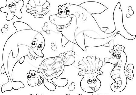 ocean animal coloring pages printable images printable pages and paper dolls pinterest. Black Bedroom Furniture Sets. Home Design Ideas